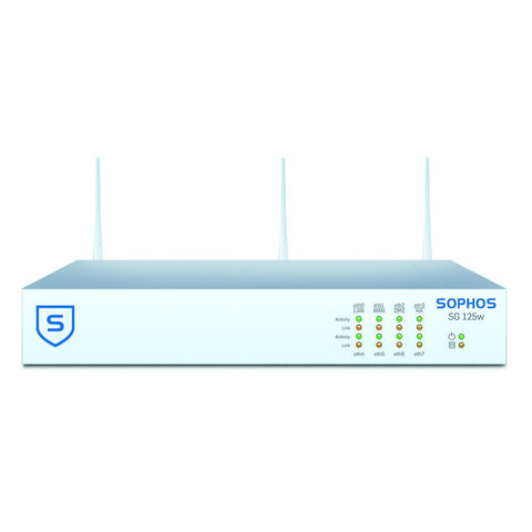 Sophos UTM SG 125w Wireless Firewall TotalProtect Bundle with 8 GE ports, FullGuard License, Premium 24x7 Support - 1 Year