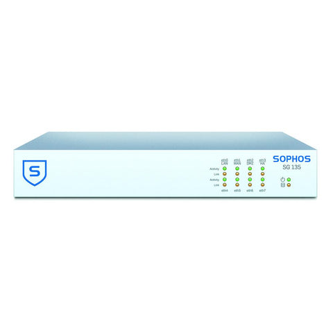 Sophos UTM SG 135 Security Firewall with 8 GE ports, HDD + Base License for Unlimited Users (Appliance Only)
