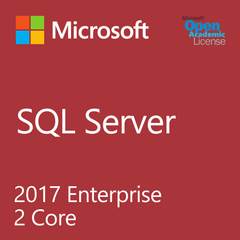Microsoft SQL Server 2017 Enterprise 2 Core - Open Academic