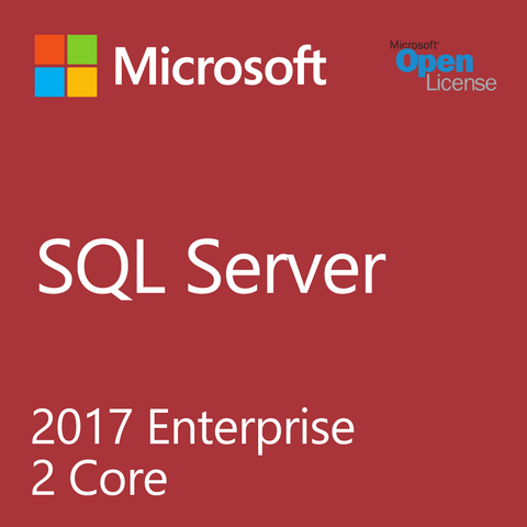 Microsoft SQL Server 2017 Enterprise 2 Core w/ Software Assurance- Open License