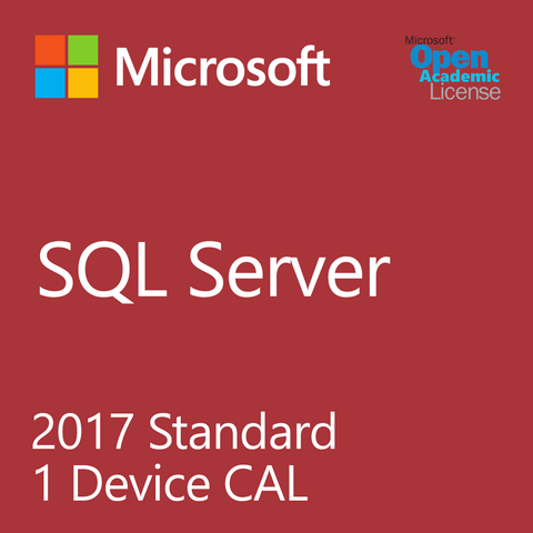 Microsoft SQL Server 2017 Standard - 1 Device Client Access License Academic