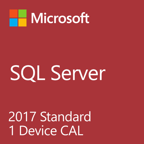Microsoft SQL Server Standard 2017 10 Device CAL Retail Box