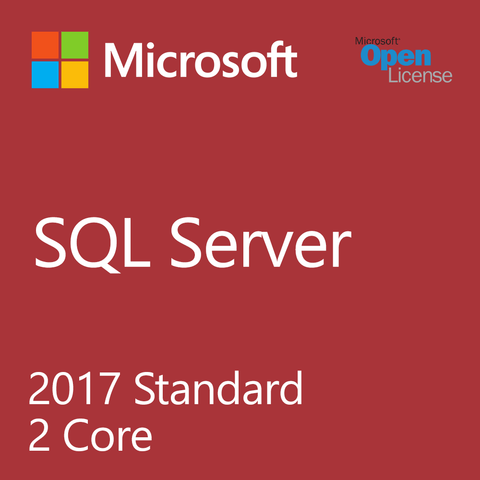 Microsoft SQL Server Standard 2017 2 Core Open Business License
