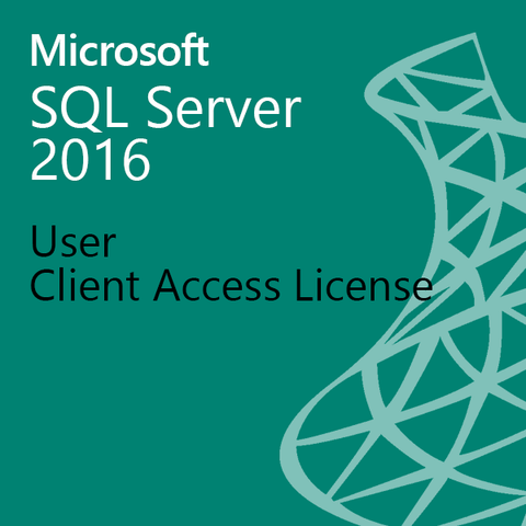 Microsoft SQL Server 2016 - User Client Access License UCAL Open License OLP