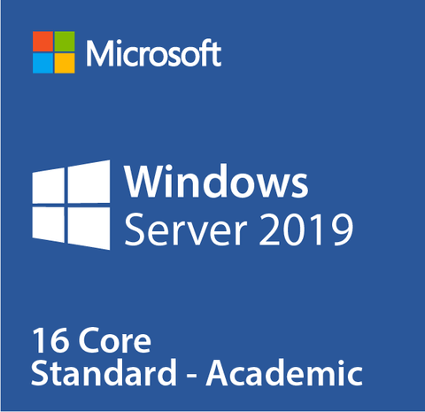 Microsoft Windows Server Standard 2019 16 Core License - Academic