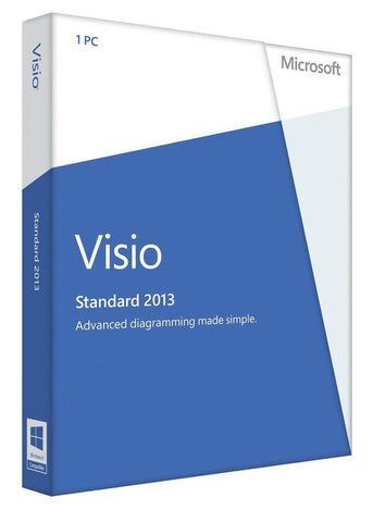 Microsoft Visio Standard 2013 - PC - License - English - MyChoiceSoftware.com - 1