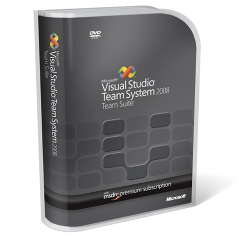 Microsoft Visual Studio Team System 2008 Retail Box.
