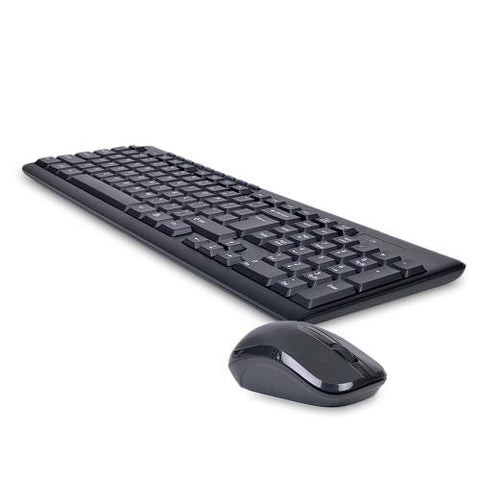 2.4GHz Wireless Multimedia Keyboard & Optical Mouse Combo w/Nano USB Receiver (Black)