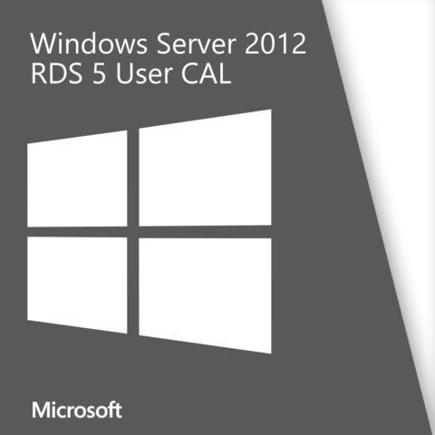 Microsoft Windows Server 2012 5 RDS User CALs Open Business