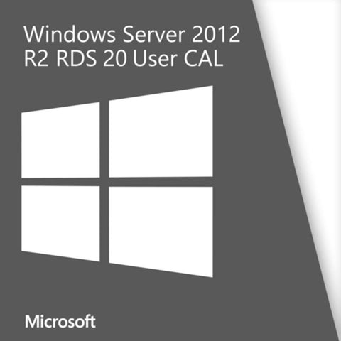 Microsoft Windows Server 2012 Remote Desktop Services - 20 User CALs