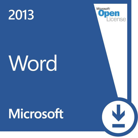 Microsoft Word 2013 Open License - MyChoiceSoftware.com - 1