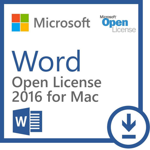Microsoft Word 2016 for Mac - Open License