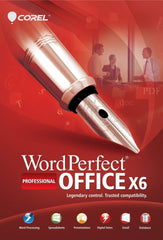 Corel WordPerfect X6 Professional Retail Box