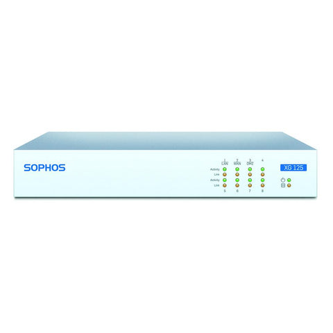 Sophos XG 125 Next-Gen UTM Firewall TotalProtect Bundle with 8 GE ports, FullGuard License, 24x7 Support - 1 Year - MyChoiceSoftware.com - 1