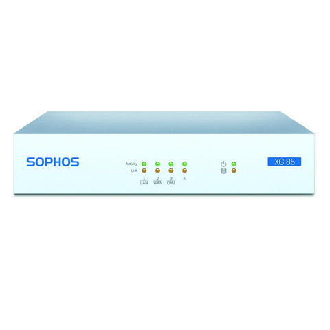 Sophos XG 85 Next-Gen Firewall TotalProtect Bundle with 4 GE ports, FullGuard License, 24x7 Support - 3 Year
