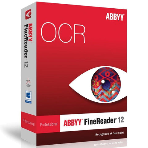 ABBYY FineReader Professional Edition - Version 12 - Box Pack - MyChoiceSoftware.com