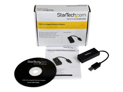 StarTech.com USB 3.0 to Gigabit Ethernet NIC Network Adapter - Network adapter - SuperSpeed USB 3.0 - Gigabit Ethernet - MyChoiceSoftware.com