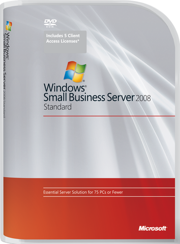 Microsoft Small Business Server Standard 2008 w/5-Client.