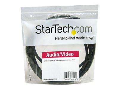 StarTech DisplayPort to DVI-D Video Converter Cable 10 Ft Black