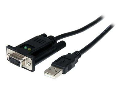 StarTech Usb To Null Modem Rs232 Db9 Serial Dce Adapter Cable With Ftdi Serial Adapter Usb 2 0 Rs 232 Black