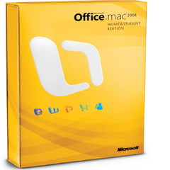 Microsoft Office Home and Student 2008 for Mac Retail Box - MyChoiceSoftware.com
