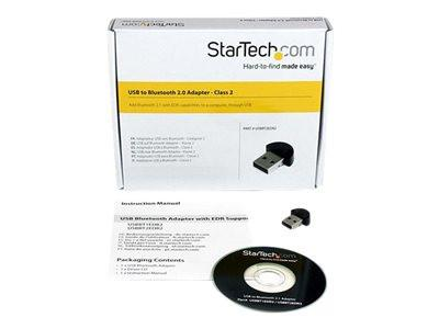 StarTech.com Mini USB Bluetooth 2.1 Adapter - Class 2 EDR Wireless Network Adapter - Network adapter - USB - Bluetooth 2.1 EDR - Class 2 - black - MyChoiceSoftware.com