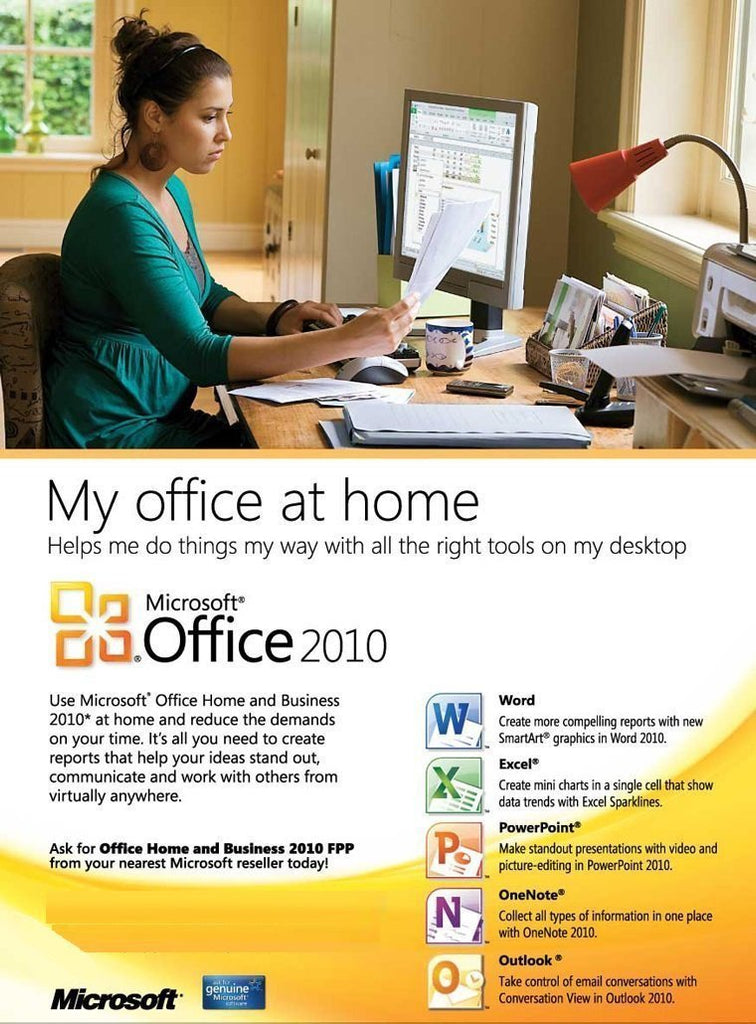Microsoft office 2010 home and business license - Windows office home and business ...
