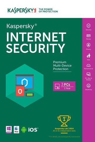 Kaspersky Internet Security 2016 - 3 User Download License - MyChoiceSoftware.com