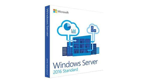 Windows Server Standard 2016 64 Bit DVD 10 CAL Retail Box