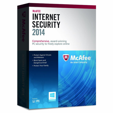 (Renewal) McAfee Internet Security 3 PC Download License.