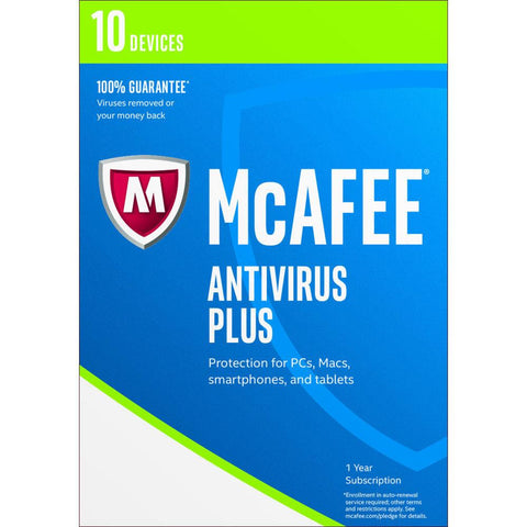 McAfee Antivirus Plus 2017 10 Devices