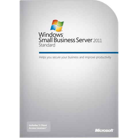 Microsoft Windows Small Business Server 2011 Standard - 5 CALs, 1 server (1-4 CPU).
