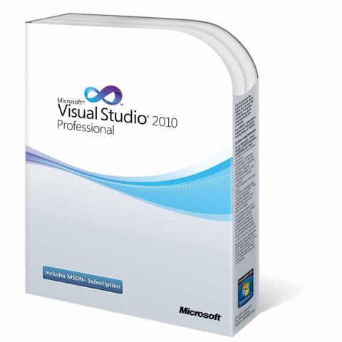 Microsoft Visual Studio Professional 2010 Retail Box w/MSDN Essentials - MyChoiceSoftware.com