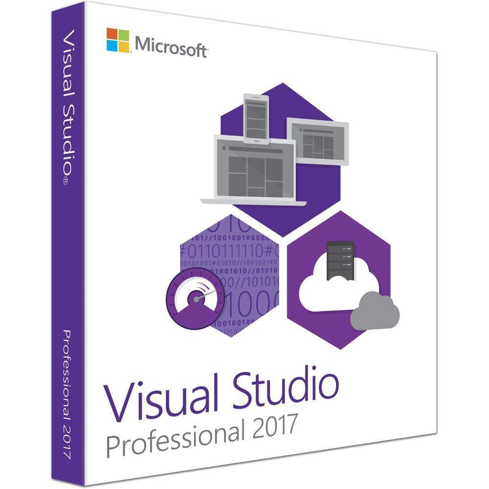 Microsoft Visual Studio Professional 2017 - Open License with MSDN/Software  Assurance