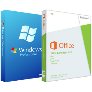 Microsoft Windows 7 Pro with Home and Student 2013 - License Deal