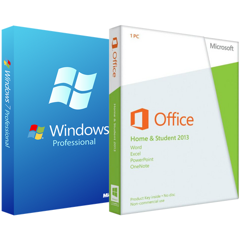 Microsoft Windows 7 Pro with Home and Student 2013 - License