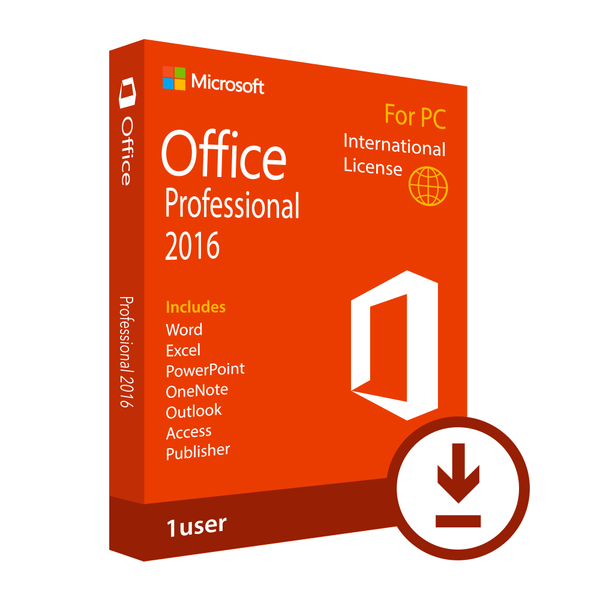 Microsoft office professional 2016 download international - Office professional plus components ...