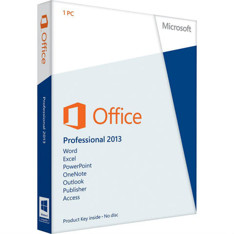 Microsoft Office Professional 2013 - Retail License.