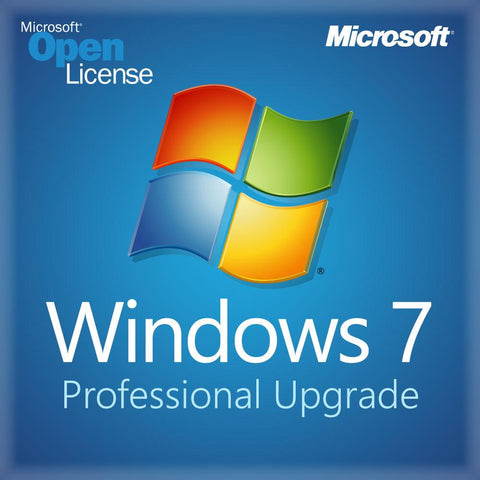 Microsoft Windows 7 Pro Upgrade - Open License