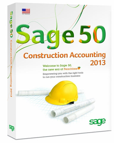 Sage 50 Construction Accounting 2013 5 Users Retail Box