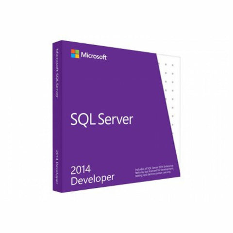 Microsoft SQL Server 2014 Developer Edition Retail Box - MyChoiceSoftware.com
