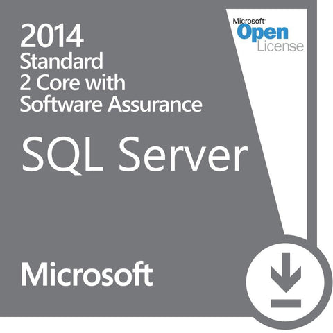 Microsoft SQL Server Standard 2014 2 Core - w/ Software Assurance