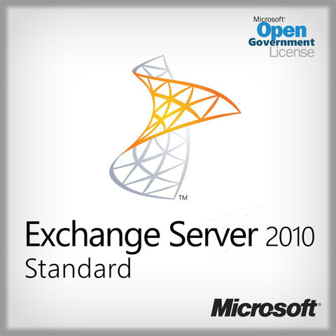 Exchange Server 2010 Standard Server Lic.  Open Gov. 312-04062