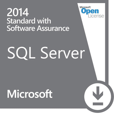 Microsoft SQL Server 2014 Standard - Open License with Software Assurance