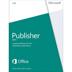 Microsoft Publisher 2013 - With Media - Retail Box - MyChoiceSoftware.com