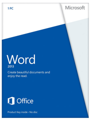 Microsoft Word 2013 with Media - Retail Box - MyChoiceSoftware.com