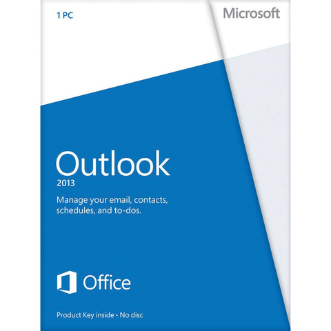 Microsoft Outlook 2013 With Disc Retail Box