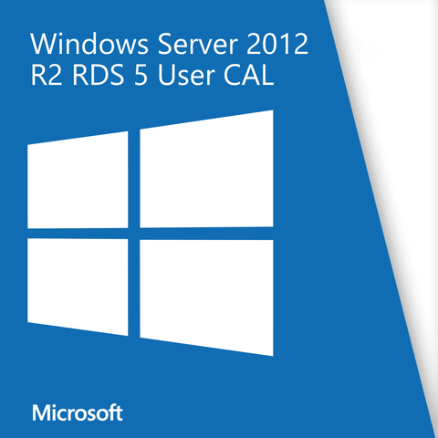 Microsoft Windows Server 2012 R2 Remote Desktop Service 5 User CAL
