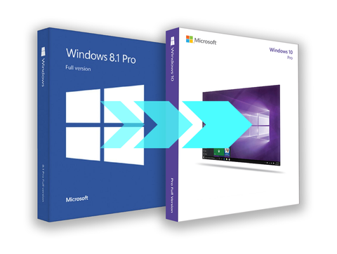 Microsoft Windows 8.1 Professional Upgrade to Windows 10 Pro