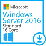 Windows Server Standard 2016 with 5 User CALs.